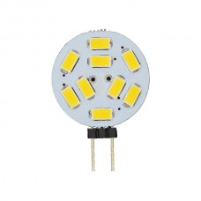 9-LED Round G4 Cool White Bulb High Intensity
