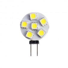 6-LED Round G4 Cool White Bulb