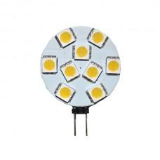 9-LED Round G4 Cool White Bulb