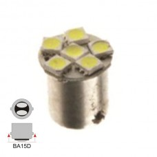 6 LED Double Contact Even Pins Cool White