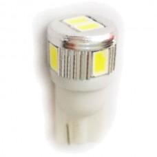 6 LED T10 Wedge Bulb Cool White